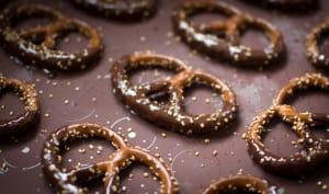Bretzels au chocolat et sel de Guérande