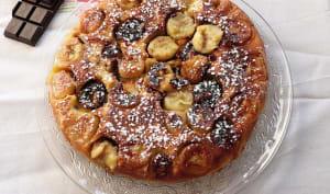 Le gâteau à la poêle banane et chocolat