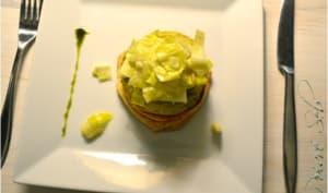 Flan au Munster en feuilleté et petite salade en mode Slovène