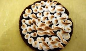 Tarte noisette chocolat meringuée