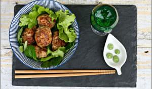 Boulettes de poulet et shitakés