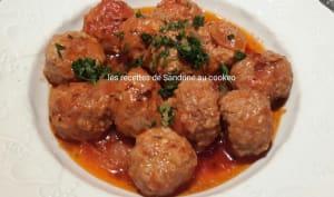Boulettes de veau à la tomate et herbes de Provence