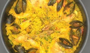 Paella de lapin au quinoa