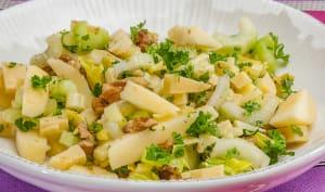 Salade de céleri aux noix et comté