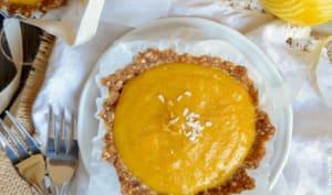 Tartelettes crues au citron, mangue et vanille