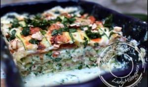 Lasagnes au jambon cru, courgette et ricotta