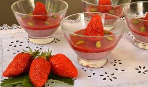 Pudding végan aux fraises et graines de chia