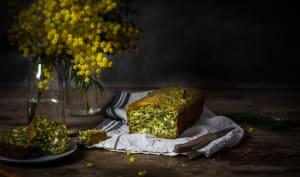 Cake aux épinards et fromage de chèvre