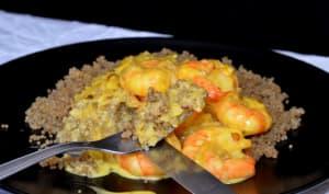 Quinoa aux crevettes safranées