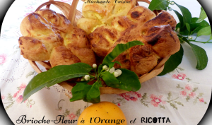 Brioche-fleur à la Ricotta et à l'orange