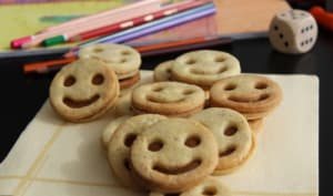 Biscuits smiley à la pâte de spéculoos maison