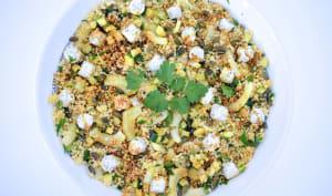 Salade de millet aux courgettes, fenouil et graines de courge