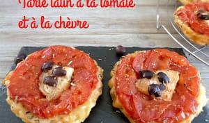 Tarte tatin aux tomates et au chèvre