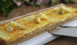 Quiche aux asperges blanches sur fond de tarte au quinoa