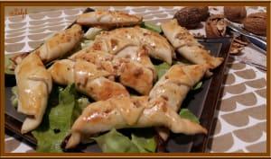 Mini croissants gorgonzola et noix