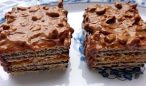 Bouchées croustillantes chocolat caramel