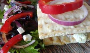 Burger façon pita grecque