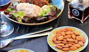 Brochettes et aubergines comme un kebab