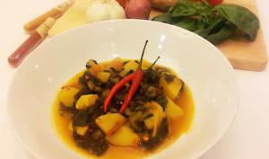 Curry d'épinards aux pommes de terres