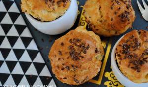 Muffins au roquefort, chèvre et gruyère