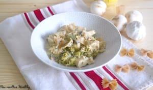 Poulet à la crème de champignon et pâtes complètes