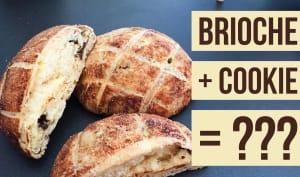 La brioche-cookie ou melon pan au chocolat