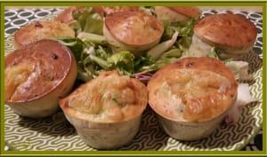 Muffins aux fanes de radis et fromage de chèvre