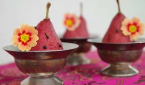 Poires à l'hibiscus et au poivre sauvage