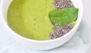 Green Smoothie : banane, épinards, kiwi