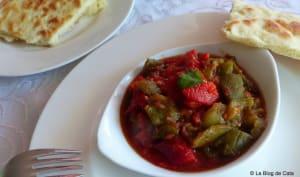 Chakchouka algéroise / salade de poivrons grillés