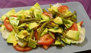 Salade avocat haricots verts