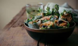 Spring rolls de quinoa façon méditerranéenne