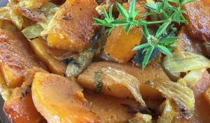 La tarte tatin au giraumon et curry