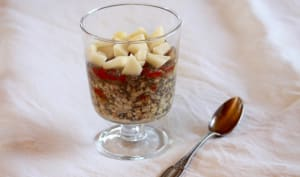 Overnight oat and chia porridge