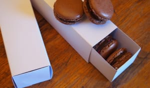 Macarons tout chocolat et chocolat framboises