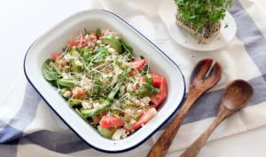 Quinoa, pastèque et avocat en salade