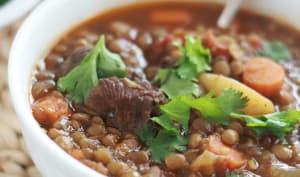 Soupe aux lentilles algérienne