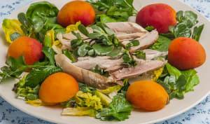 Salade de poulet aux abricots et aux fines herbes