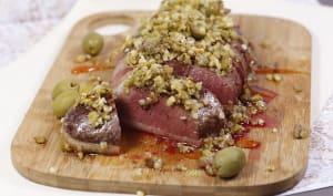 Magret de canard aux olives