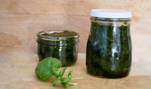 Pesto de basilic.