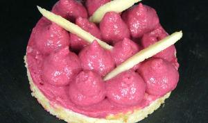 Cheesecake salé tuc et chèvre espuma de betterave