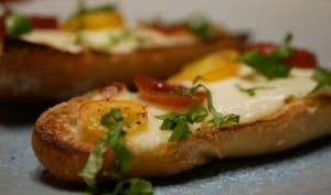 Tartines tomates mozzarella