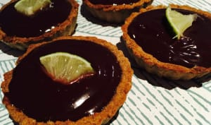 Tartelettes au sarrasin, chocolat et citron vert