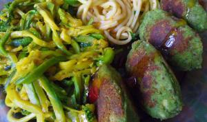 Boulettes vegan de pois-chiches aux épinards