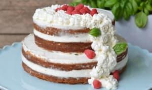Naked cake aux framboises et lait de coco