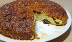 Gâteau de semoule rhum raisins