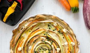 Quiche tourbillon de légumes