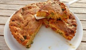 Quiche sans pâte, courgette, poivron et chorizo