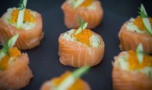 Makis de saumon fumé à la choucroute crue