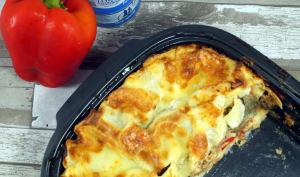 Lasagnes au thon, poivrons et aubergines